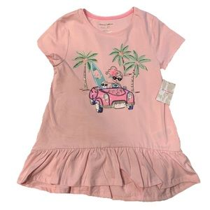 NWT Tommy Bahama Pink Sequin Top - L (10-12)
